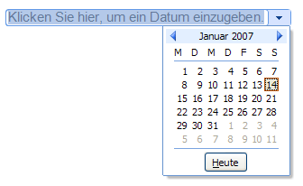 entwicklertools excel datum